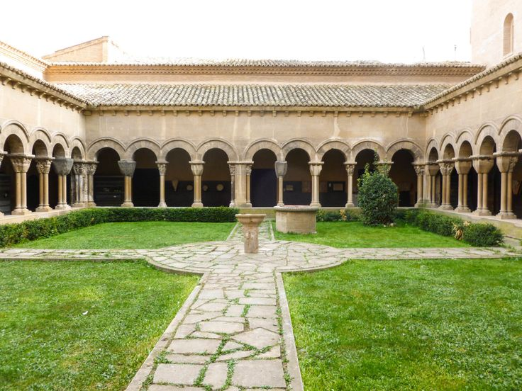 The cloister of the Cathedral in Tudela, Spain.