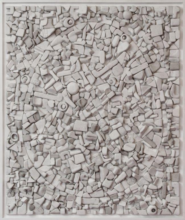 "Saatchi Online Artist: Nico Kok; Plastic 2011 Collage ""Egg shape"""