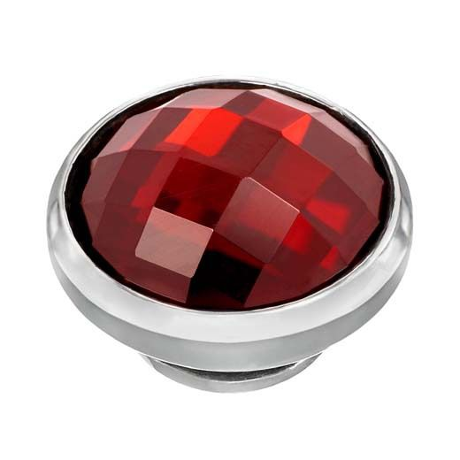BUTTON-LIKE POPS KAGI GEMPOPS PAINT THE TOWN STERLING SILVER RED CUBIC ZIRCONIA JANUARY BIRTHSTONE - Jons Family Jewellers