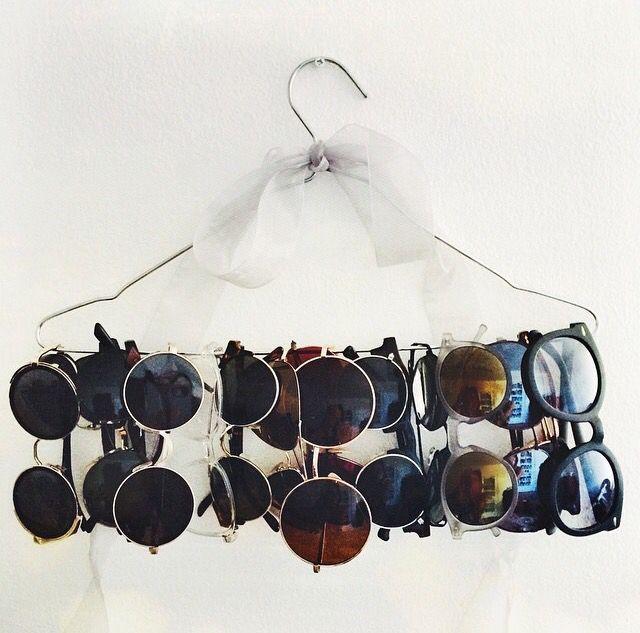 Sunglasses holder DIY