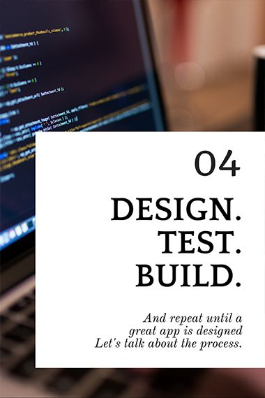 How du you build an app? well, it goes a lot like this: Design. Test. Build. Repeat. #app #building #tips