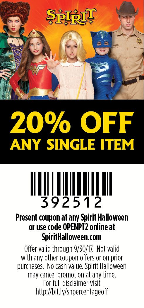 Use this coupon to save on the perfect Halloween costumes from #SpiritHalloween!