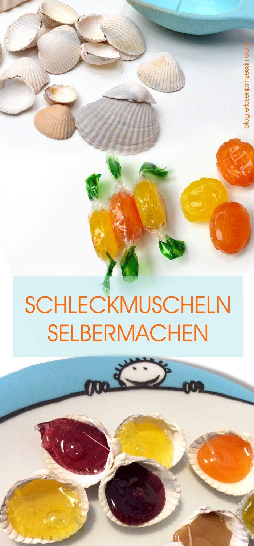 Nach dem Strand-Urlaub: Schleckmuscheln selbermachen. Schnelle Idee aus Muscheln und Bonbons, auch für den Kindergeburtstag #muscheln #candy
