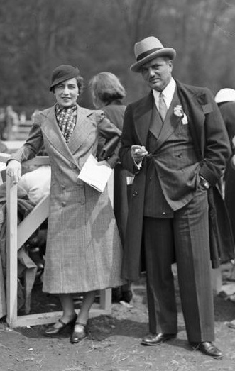 Mr and Mrs John V Bouvier III at a horse show, at the Rockwood Hall Country Club, Sleepy Hollow, Westchester County, New York, c1934.