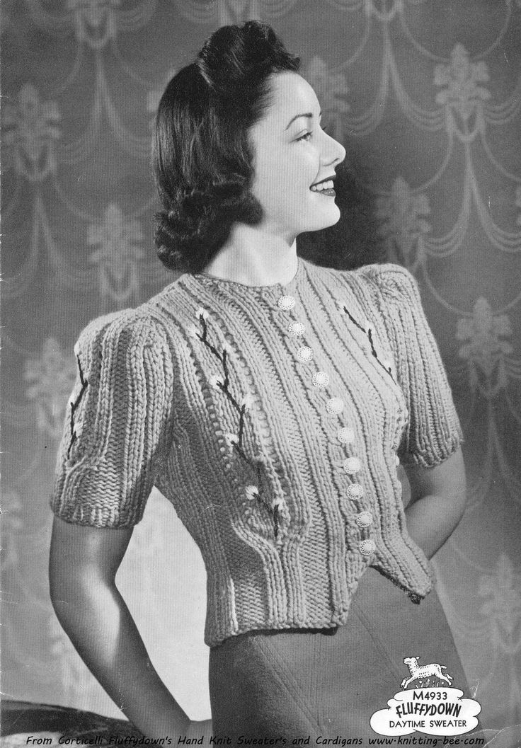 17 best Free Vintage Knitting Patterns images on Pinterest   Vintage ...