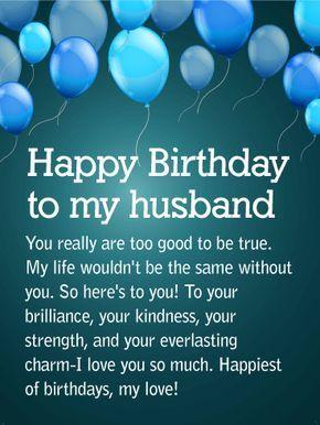 Happy Birthday Wishes For Husband Inspirational Pinterest