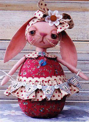 Padrão -, querido. Coque-Boneca De Pano Coelho Cute Padrão-Annie Smith Designs