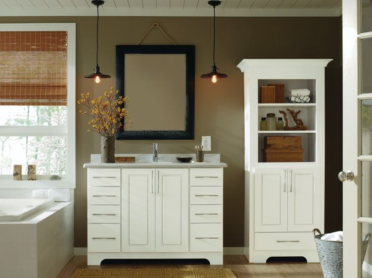A White Bathroom Vanity Always Offers A Sense Of Freshness, Especially When  Paired With A Color Palette Designed To Soothe. Adding Cabinetry Built To  ...