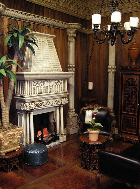 Fantasy castle room box for j bush by ken jbm via flickr - Miniature room boxes interior design ...