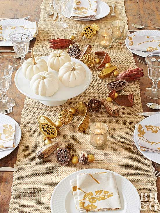 Impress your guests by creating this look for your Thanksgiving table.
