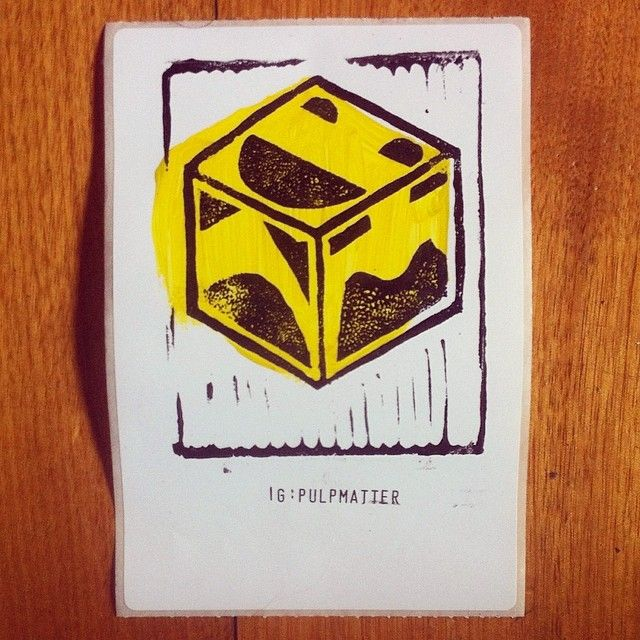 @pulpmatter's photo. #handmade #craft #linocut #diy #sticker