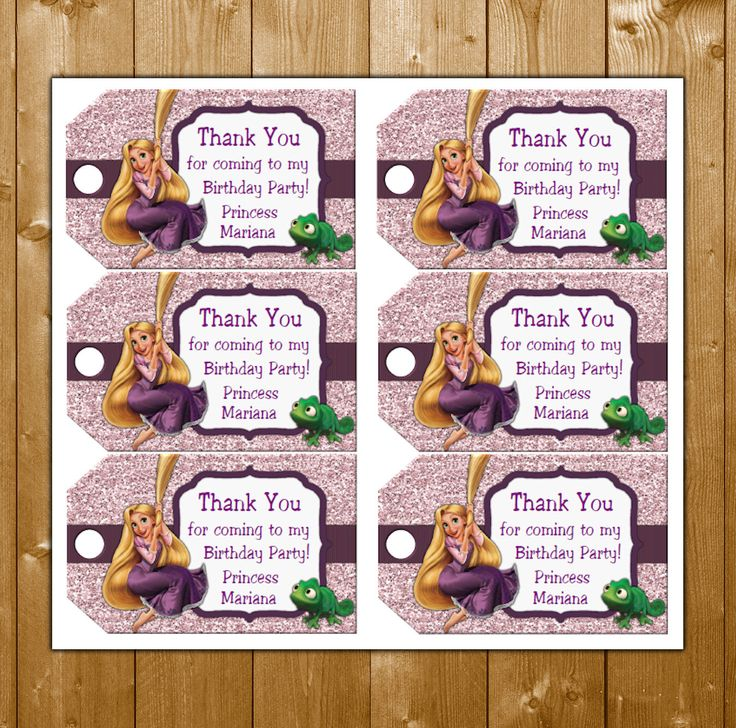 Tangled Favor Tags Rapunzel Birthday Party Favor Tags Disney Princess Rapunzel Favor Tags Instant Download by KidsPartySuppliesPL on Etsy https://www.etsy.com/listing/251490848/tangled-favor-tags-rapunzel-birthday