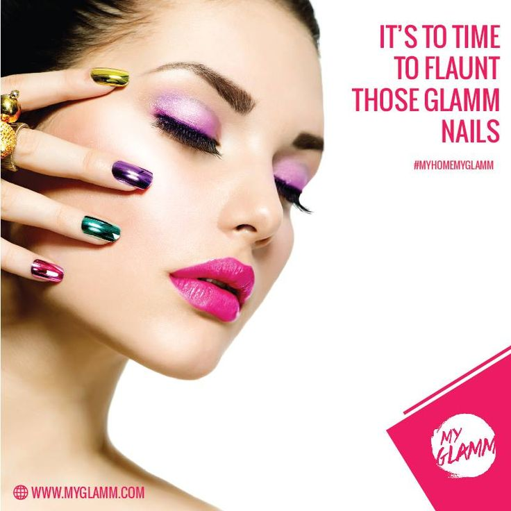 Now pamper your nails with our fine nail art services in the comfort of your home! Call us on 1800 3000 4526 #MyHomeMyGlamm