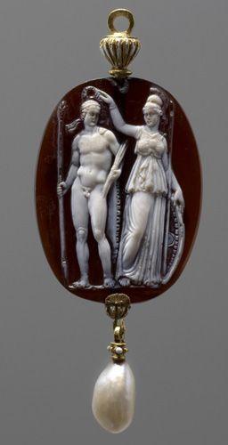 Athena holds a wreath over Zeus head | ca. 1600