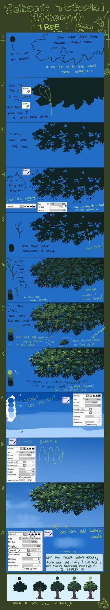 Tutorial Attempt: Tree (Updated) by *ichan-desu on deviantART