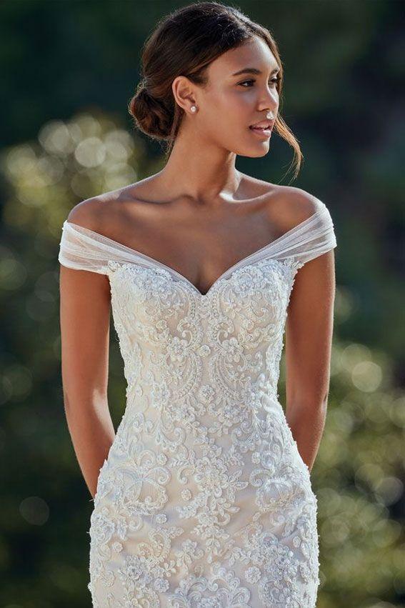 11 Best Off the Shoulder Wedding Dresses – Fab Wedding Dress, Wedding dresses …