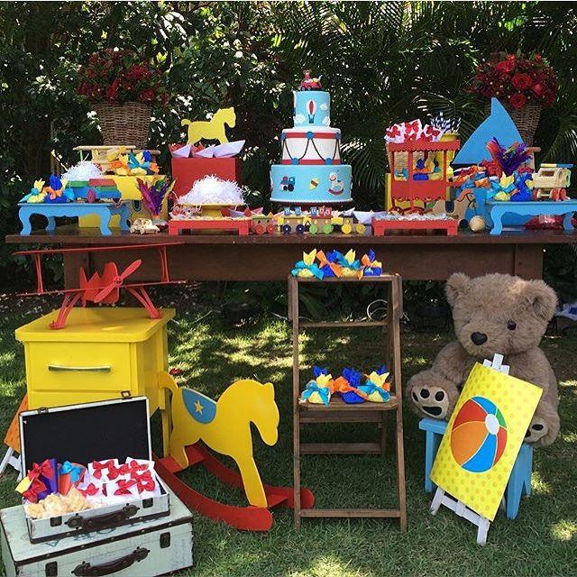 Festa tema Brinquedos ao ar livre, fofa e super gostosa! Por @mariaencanto ❤️ #kikidsparty