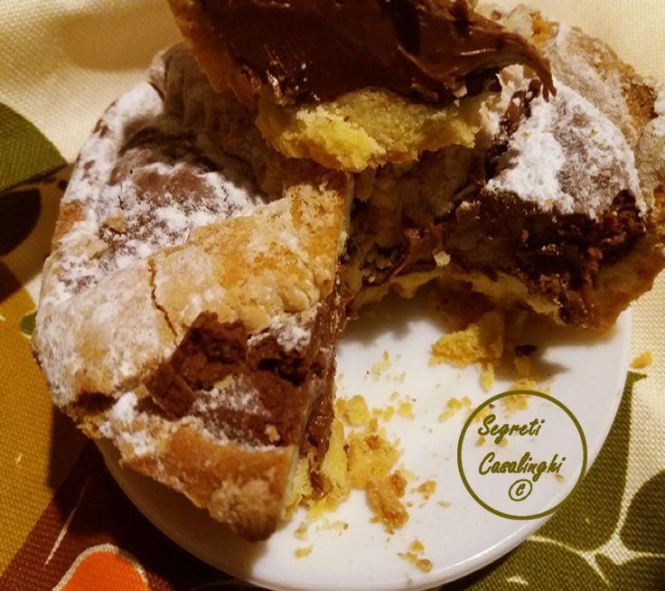 crostata morbida con la nutella, crostata nutella, crostate dolci ricette, dolci, ricetta crostata nutella morbida, ricette con la nutella, ricette crostate