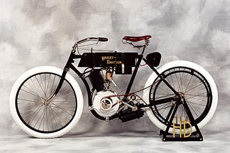 The Silent Grey Fellow was the first Harley produced in their workshop in 1903 by William Harley and Arthur Davidson assisted Ole Evinrude and William Davidson.
