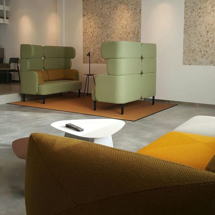 Story modular sofa system and Blob modular sofa system by Jonas Ihreborn at new showroom of Duracryl.  Jonas Ihreborn contractfurniture from Sweden - In Holland at Nordermöbler Scandinavian furniture