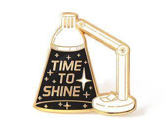 Inspirational enamel pin, Motivational pin, Space pin, Space lover, Inspiring lapel pin, Typographic pin, Lamp pin #pins