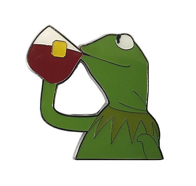 But That's None of My Business Meme Kermit Sipping Tea Meme Enamel Pin Lapel Pin Funny