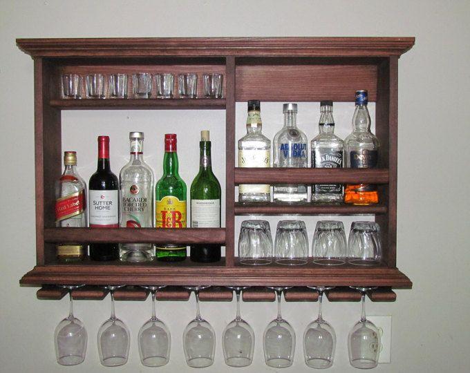 Minibar, caoba roja, 3 ' x 2 ' estante del vino, gabinete del licor, minimalista
