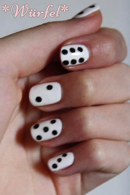 dice nails; super cuties for Bunko!!