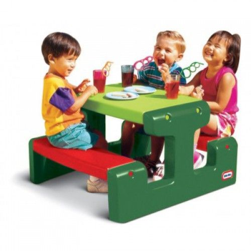 Piknikový stolík Junior Evergreen (Little Tikes)