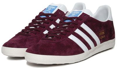 Adidas Gazelle OG trainers get a maroon suede reissue