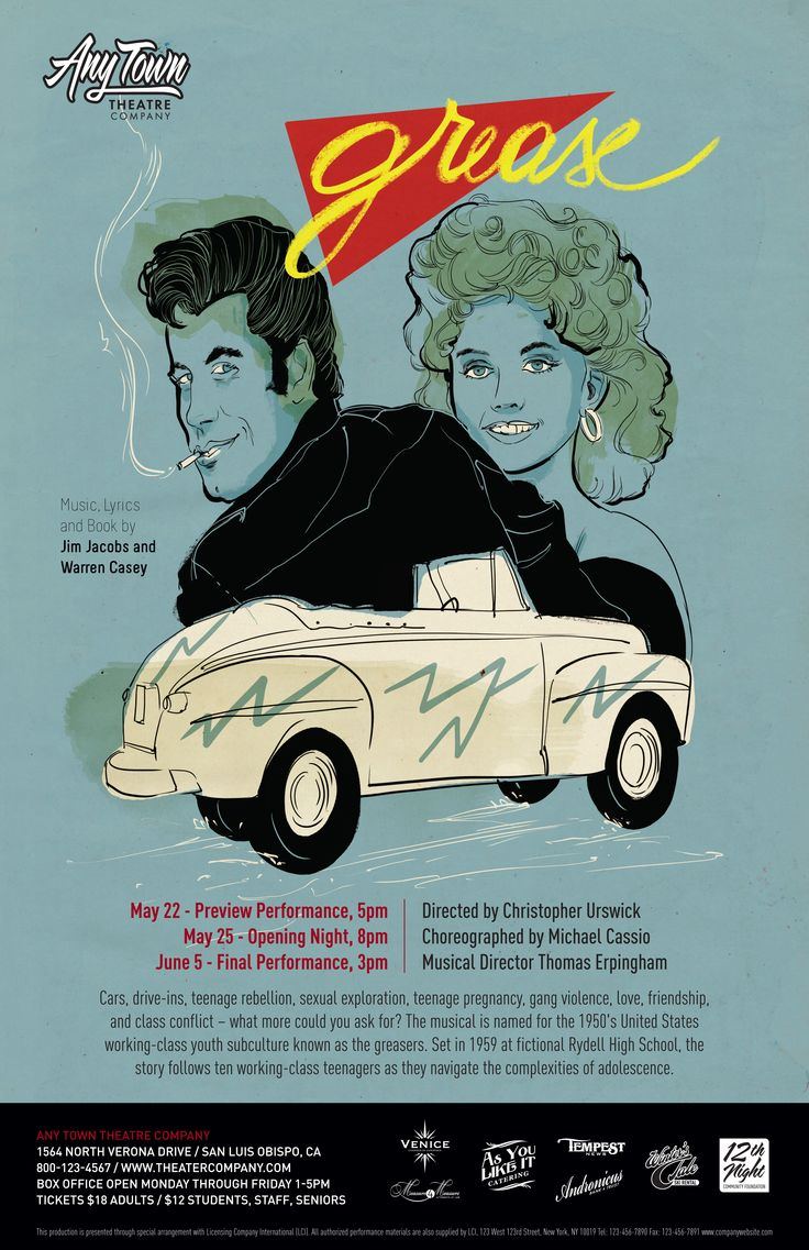 Poster design for class 5 - Subplot Studio Customizable Poster Design Grease By Alexandra Rapcencu