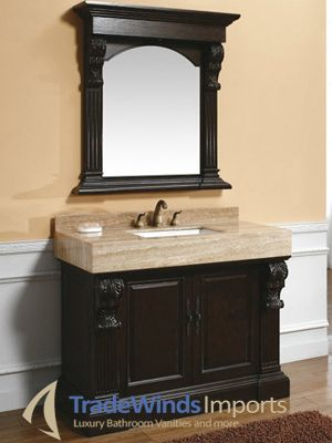 Photo Gallery Website Your bathroom will have the look of a luxurious palace with these stunningly beautiful antique bathroom vanities available in both single and double sink