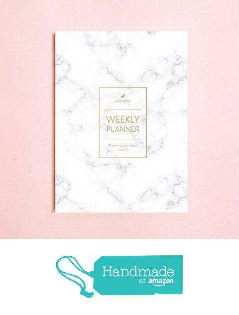 Marble Weekly Planner (Dateless) • 2018 Weekly Notebook • Agenda • Diary • Bridesmaid Gift • Travel Planner • Travel Planner • To do List • Daily Planner • 2018 from Mery Keem https://www.amazon.com/dp/B01L224BBI/ref=hnd_sw_r_pi_dp_F1hGzbGFXQH1K #handmadeatamazon