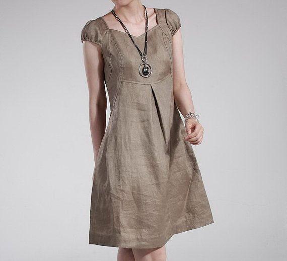 Ramie Hem Dress CustomMade Fast Shipping by zeniche on Etsy, $55.00