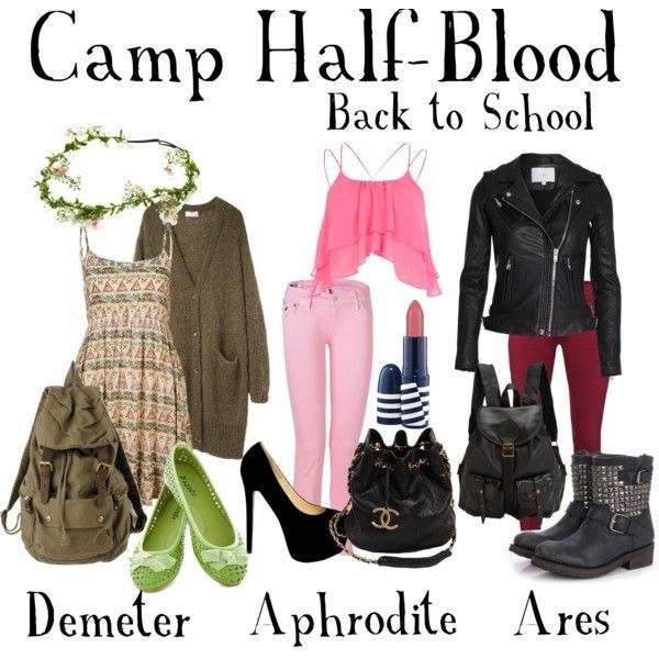 Camp Half-Blood Outfits would totally wear the Ares outfit... the others? Not so much...