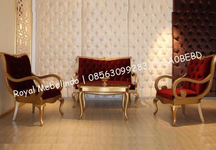 Kursi Tamu Minimalis Mewah Jok Bludur Merah - model klasik siap untuk melengkapi hunian ruang tamu keluarga anda , dengan desiannya yang elegant di padu pad