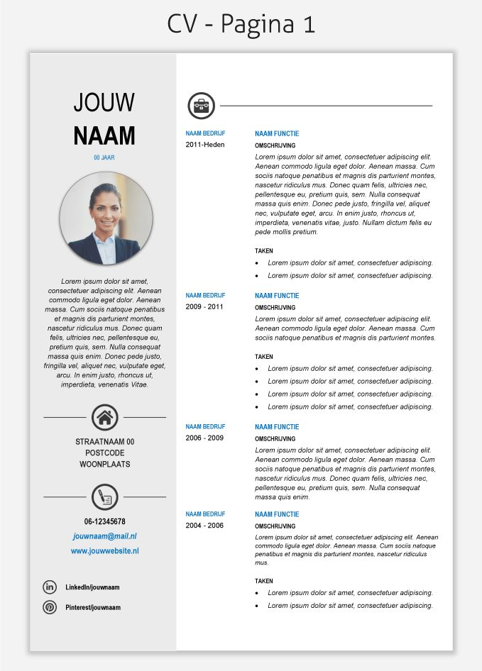 CV template 268 om te downloaden