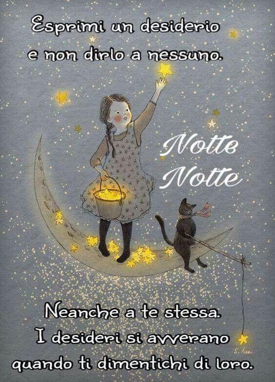 Ma sai che poco fa mentre salvo da Marina ho visto una stella cadente lunga lunga, ed ho espresso un desiderio pensando a te :) ,dolce notte ^^
