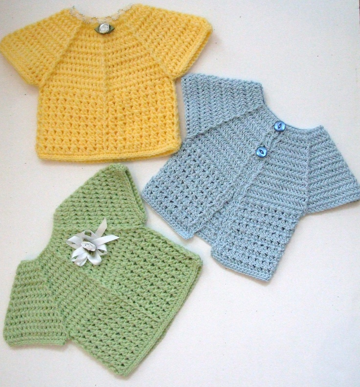 #Crochet Baby Top and Cardigan Inspiration