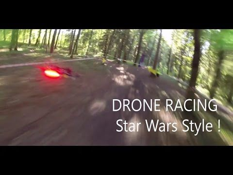 For those Star Wars diehard fans who've always wanted to recreate a speeder bike chase, you're in luck. A club based in the French Alps has begun holding official drone races, similar to those featured in Return of the Jedi. #Atmel #Drones #UAVs #StarWars #SpeederBikes