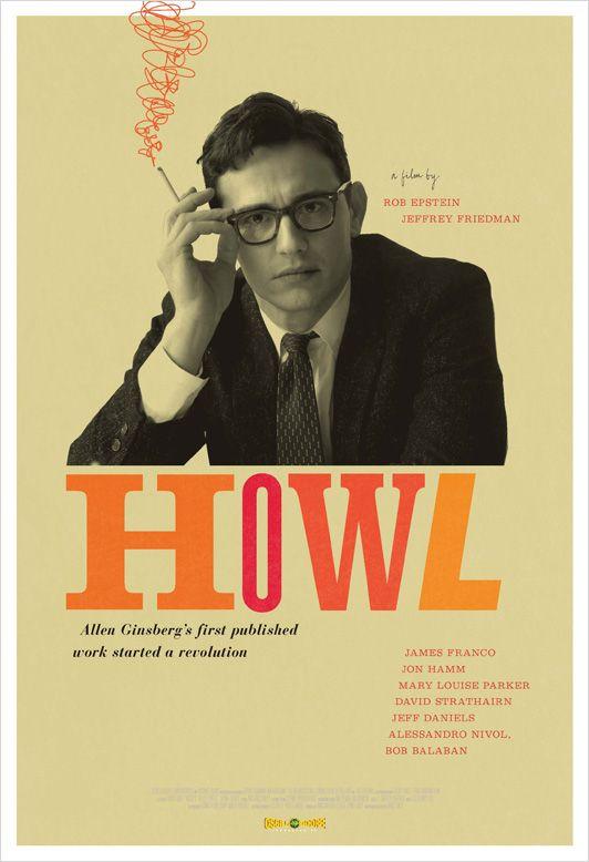 posterdesign for Howl, film about the beatpoet Allen Ginsberg