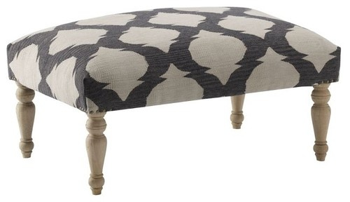 Turned-Leg Dhurrie Ottoman - mediterranean - ottomans and cubes - West Elm