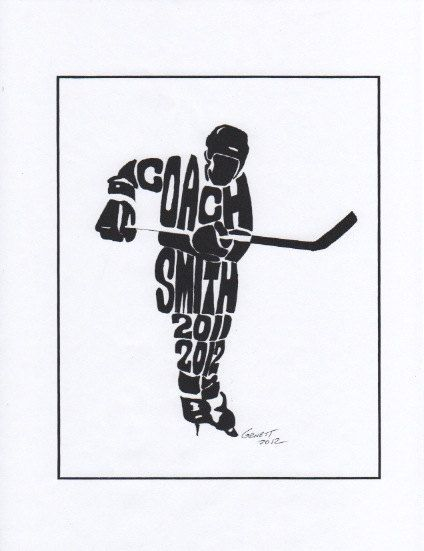 Personalized Sport Figure  Hockey  Coach  H110 by rongenest, $25.00