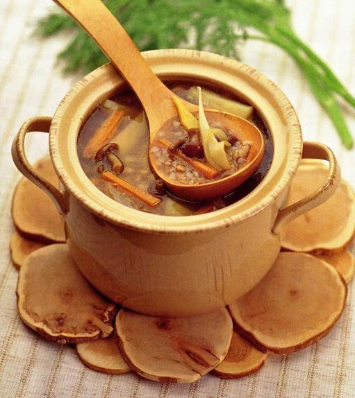 Постный суп с грибами и гречкой
