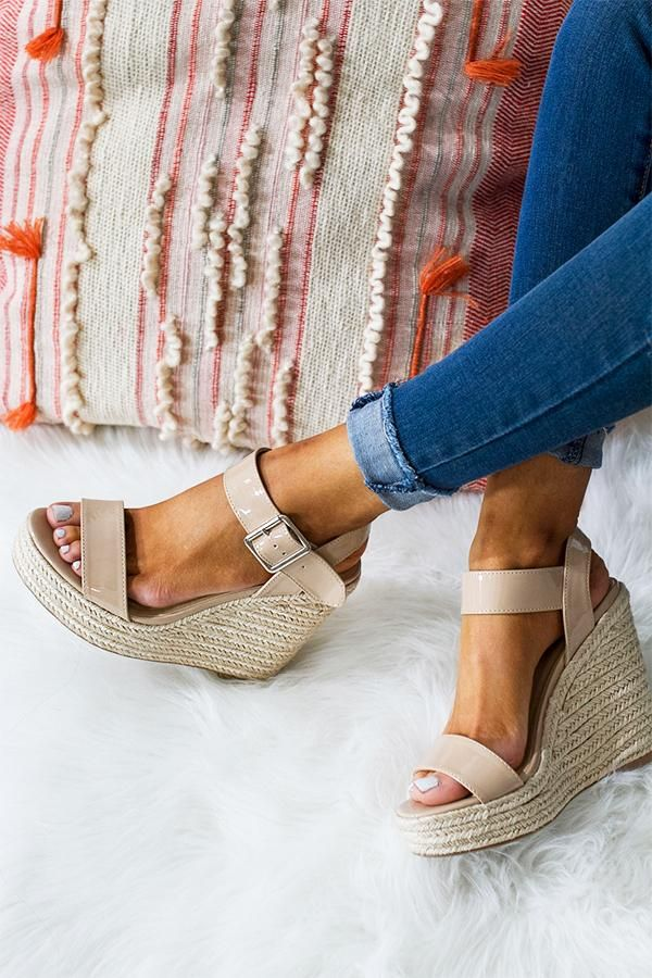 1065862dee3f The Kennedy Patent Wedge in Nude