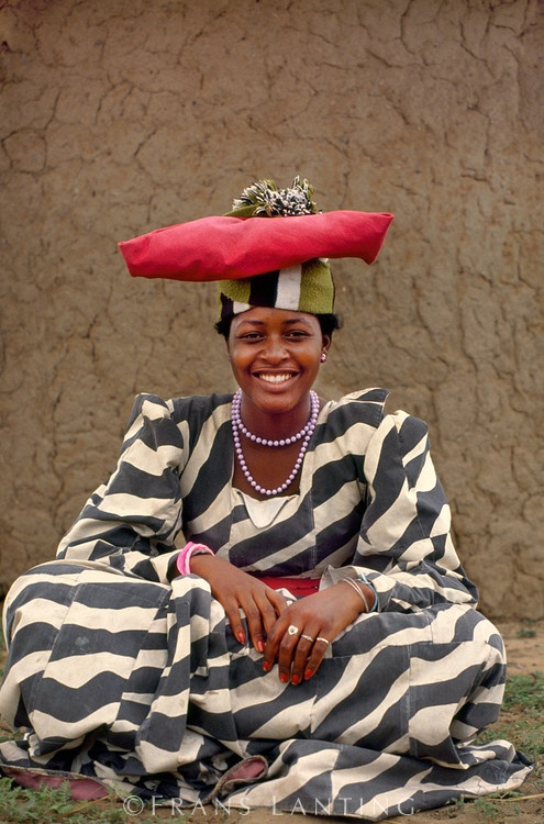 Africa | Herrero woman, Okavango Delta, Botswana | © Frans Lanting