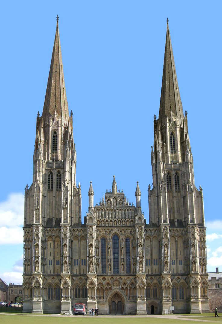 Wells Cathedral With spires? in Somerset, England. #MostBeautifulArchitecture #Cathedrals