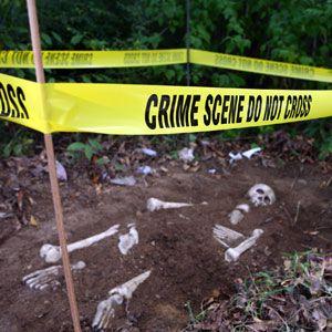Descubre quien ha sido el asesino. ... Decoración CSI . halloween. ideas originales