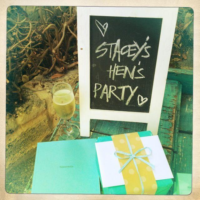 Breakfast @ Tiffany's Themed Hen's Party - Chalk Boards
