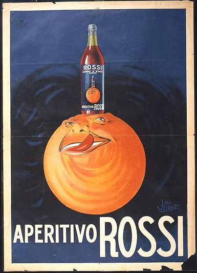 advertising, classic posters, food, free download, italian poster, graphic design, movies, retro prints, theater, vintage, vintage posters, Aperitivo Rossi - Vintage Advertising Poster